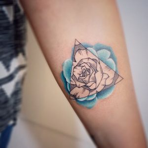 Watercolor Roses Forearm Tattoo