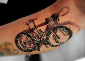 3D Bicycle Tattoo