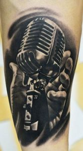 Ready to Sing Arm Tattoo