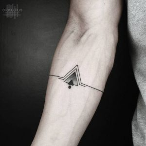 Dotted Triangles Arm Band Tattoo