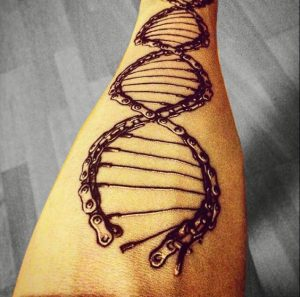Double Helix Chain Arm Tattoo