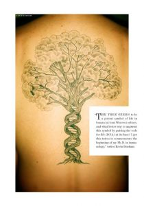 Double Helix Trunk Back Tattoo