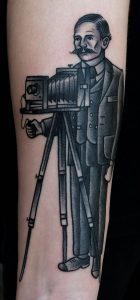 Old School Photography Forearm Tattoo