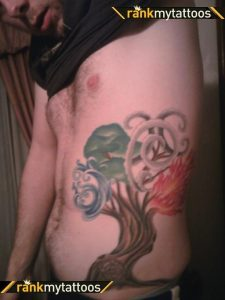 The Tree of Natural Elements Side Tattoo