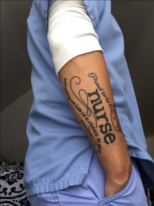 Proud To Be A Nurse Arm Tattoo