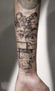 Graphic Style Forearm Tattoo