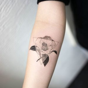 Delicate Floral Forearm Tattoo
