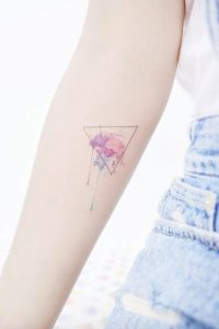 Dripping Pastel Colors Forearm Tattoo
