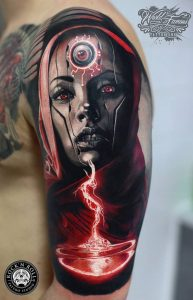Android Girl Arm Tattoo