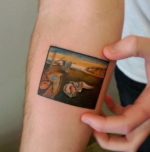Dali's The Persistence Of Memory Forearm Tattoo