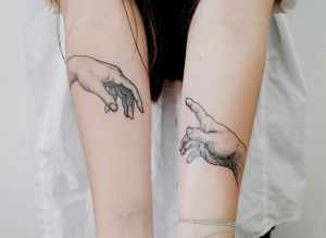 The Creation Of Adam Connecting Tattoos