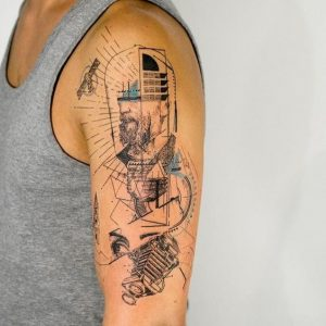 Abstract Geometry Tattoo