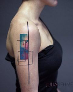 Abstract Shapes Arm Tattoo