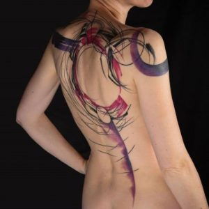 Gorgeous Abstract Back Tattoo