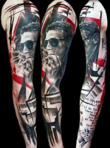Manly Abstract Sleeve Tattoo