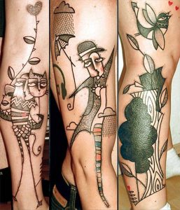 Modern Themed Abstract Tattoo