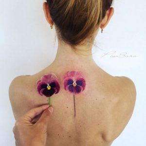 Orchid Back Tattoo