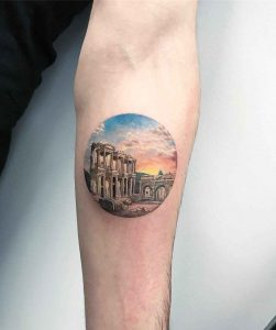 Abandoned Structure Forearm Tattoo