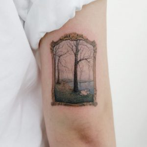 Hyper Realism Painting Arm Tattoo