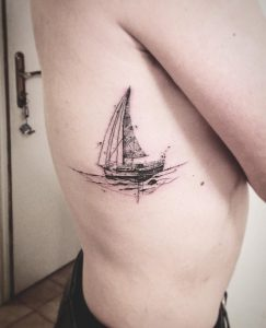 Sketchy Boat Side Tattoo