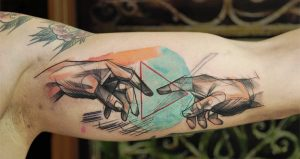 Sketchy The Creation of Adam Forearm Tattoos