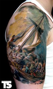 The Storm On The Sea Of Galilee Arm Tattoo