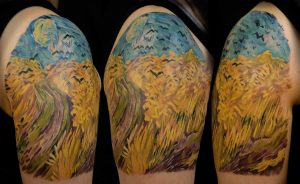 Wheatfield with Crows Arm Tattoo