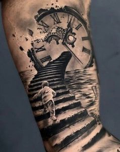 Time Stairway Arm Tattoo
