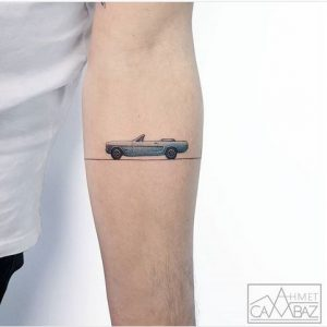 Classic Mustang Forearm Tattoo