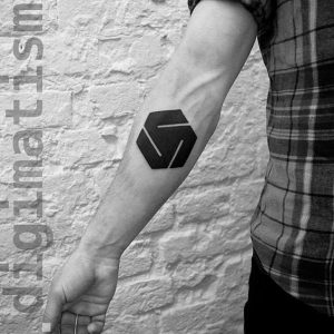 Suprematism Inspired Forearm Tattoo