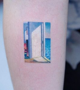 Rooms By The Sea Leg Tattoo