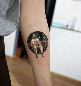 Forest Gump Inspired Forearm Tattoo