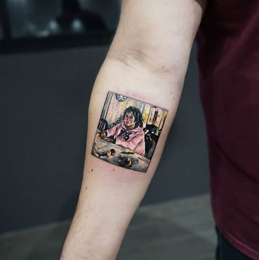 Girl With Peaches Forearm Tattoo