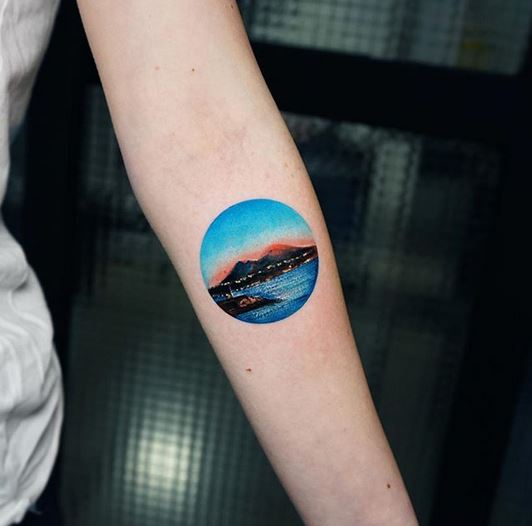 Sunset At Naples Forearm Tattoo