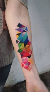 Abstract Geometry Forearm Tattoo
